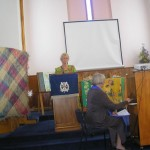 Speaking at the service